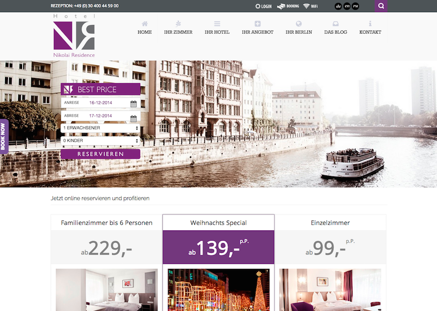 Referenz Hotel Website