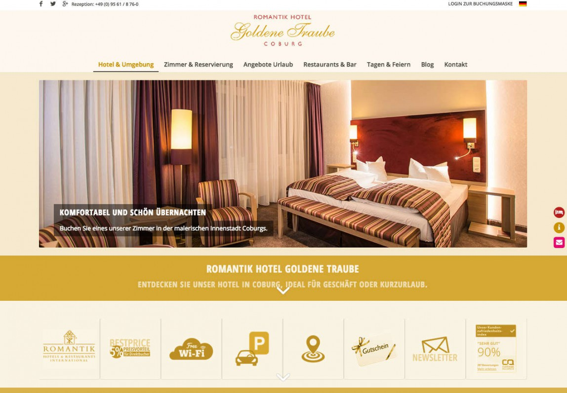Relaunch Hotel Website
