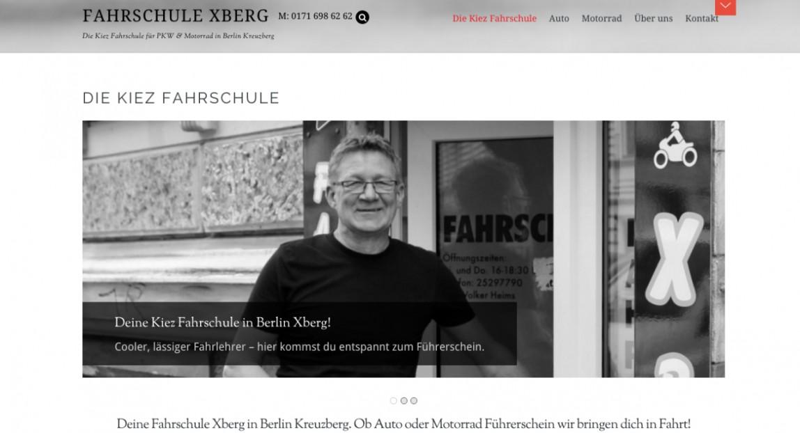 Website für Fahrschule