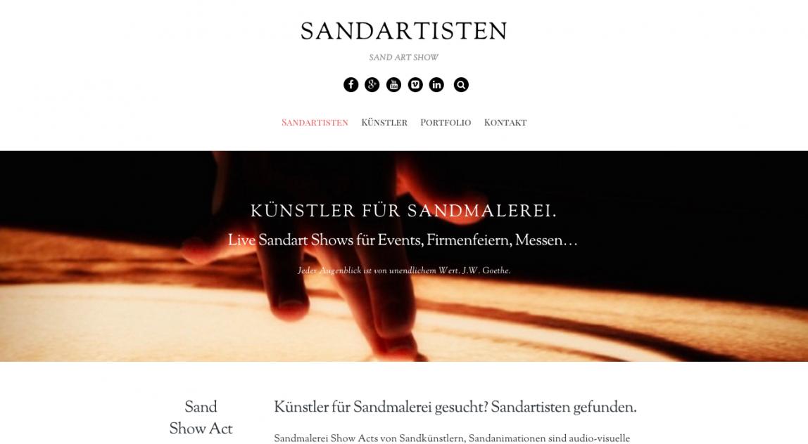 Responsive Künstler Website