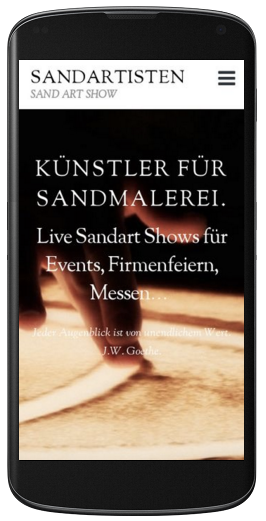 Website Sandartisten mobile