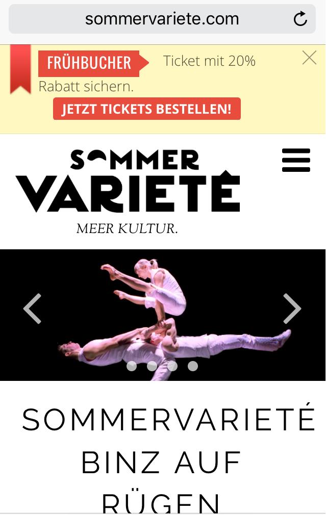 Website Sommervariete mobil